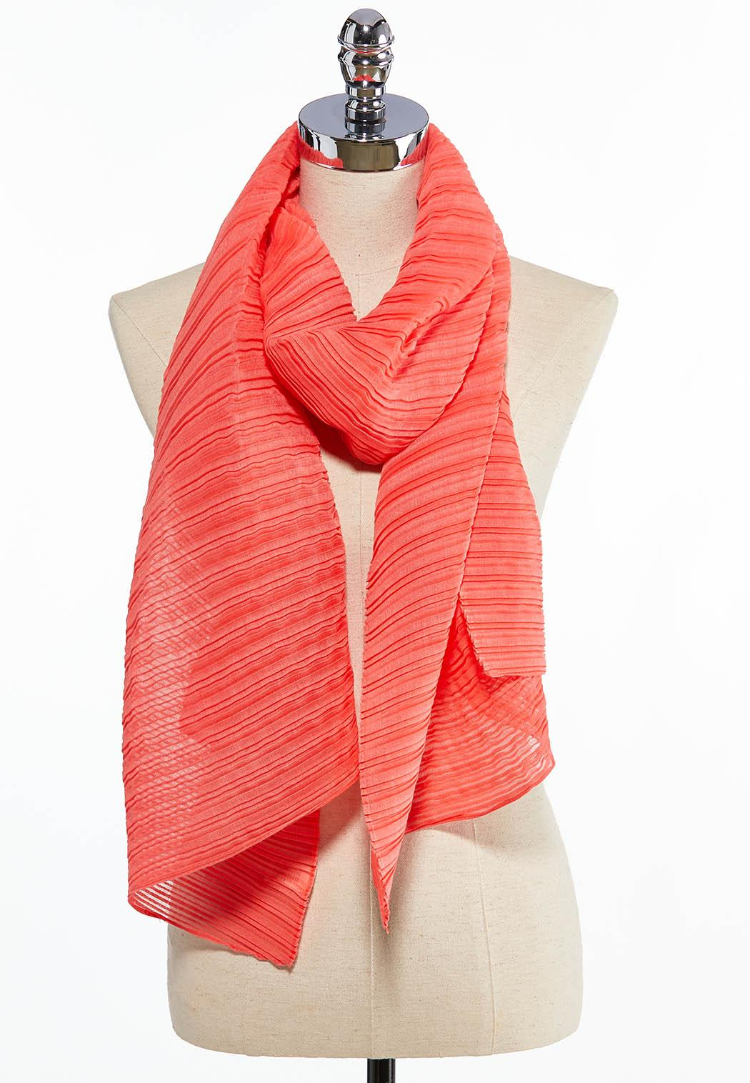 Textured Solid Oblong Scarf