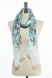 Ombre Vines Oblong Scarf