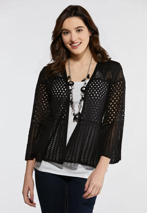 Plus Size Multi Stitch Shrug
