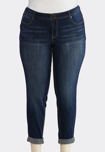 Plus Size Dark Skinny Ankle Jeans