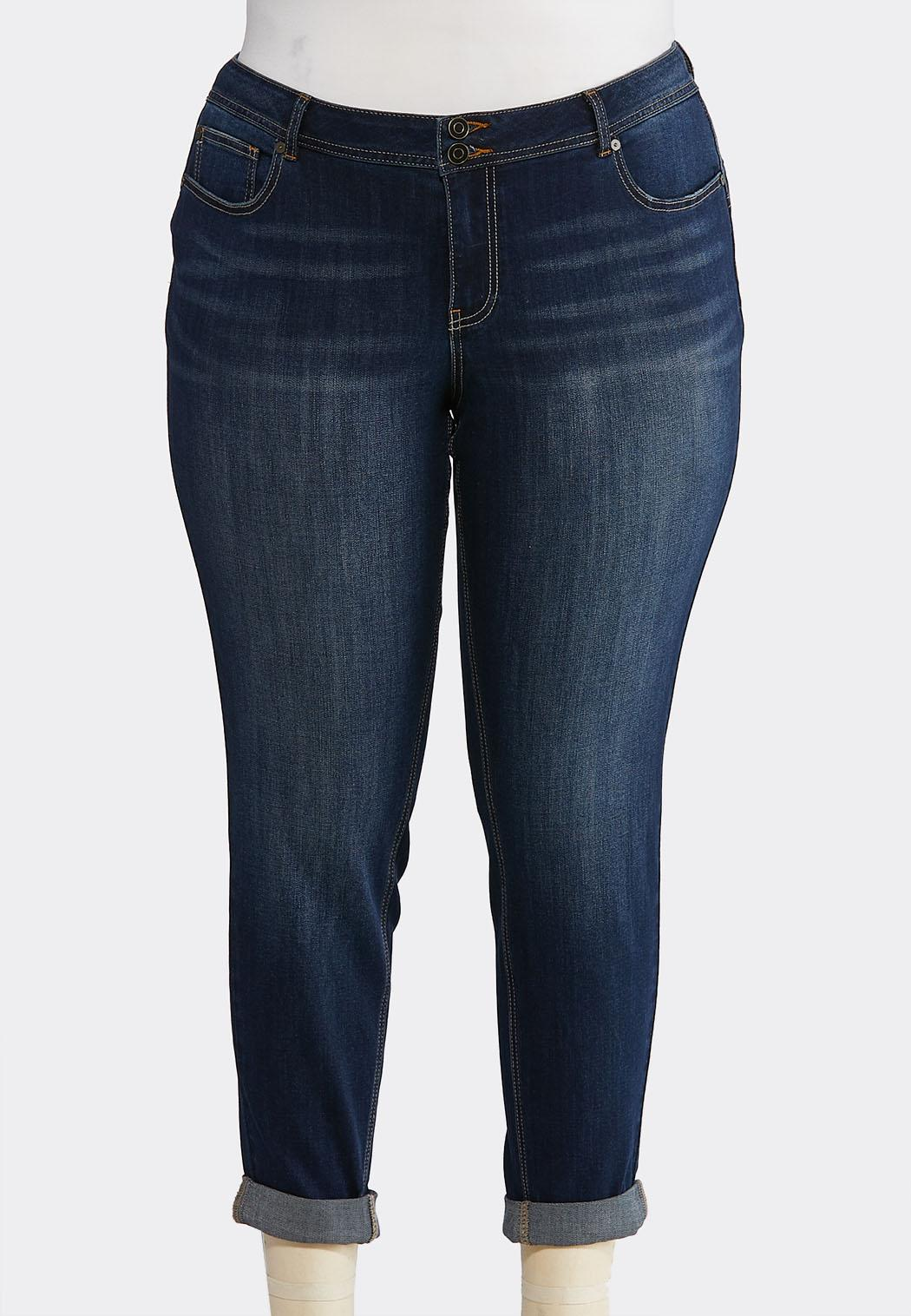 36bfec1bdc Plus Size Dark Skinny Ankle Jeans Ankle Pants Cato Fashions