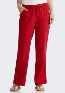 Drawstring Linen Pants