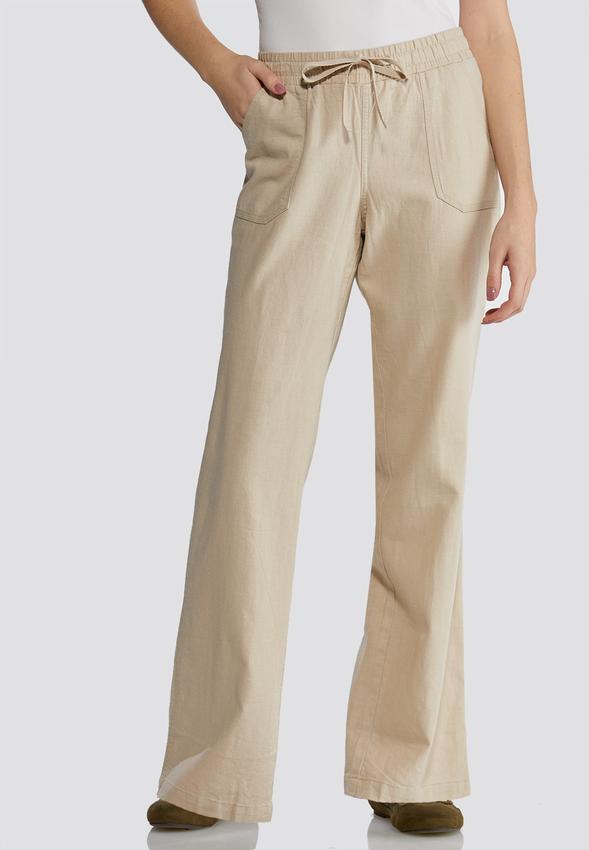 5b7962ae14 Drawstring Linen Pants Pants Cato Fashions