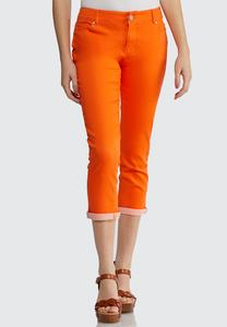 Cropped Colored Jeans