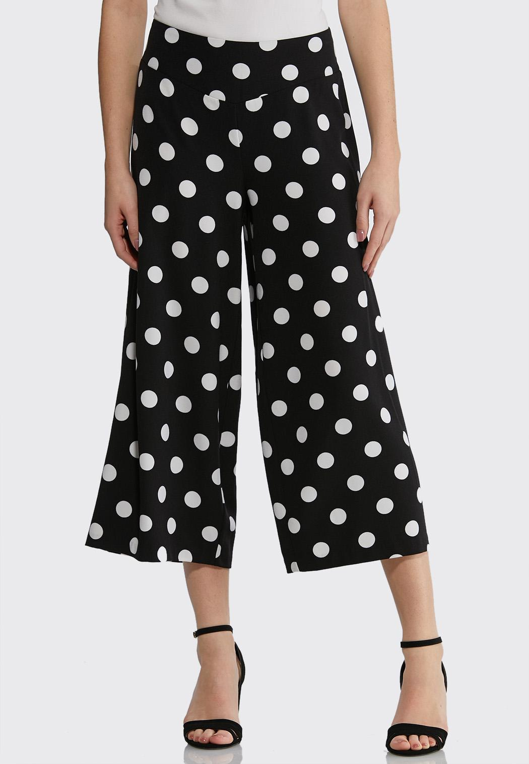 Cropped Polka Dot Pants