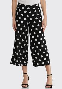 Cropped Polka Dot Pants