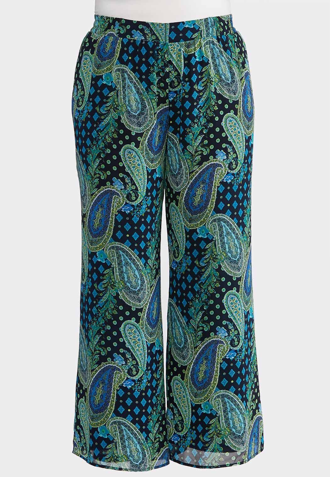 b7b1150bec5 Plus Size Paisley Palazzo Pants Wide Leg Cato Fashions