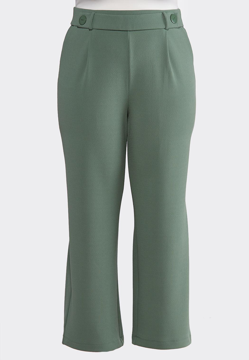 7e4fcc6e82b Plus Size Button Tab Pants Wide Leg Cato Fashions
