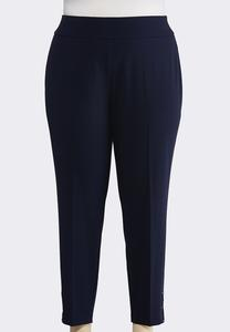 Plus Size Embellished Ankle Pants