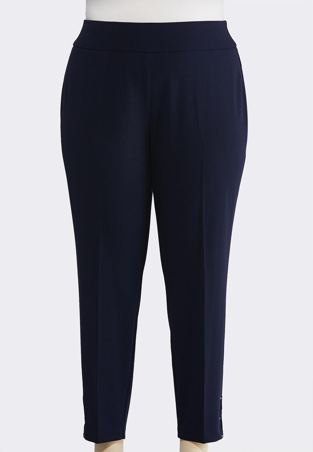 b43a3cf579e Plus Size Embellished Ankle Pants Slim Cato Fashions
