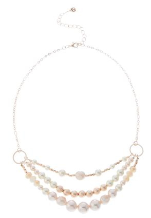 Mixed Pearl Short Chain Necklace