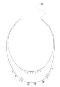 Rhinestone Chain Short Necklace