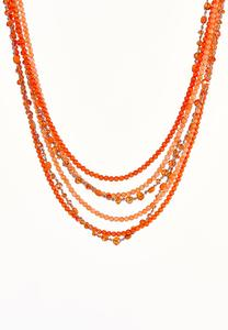 Multi Row Colored Bead Necklace