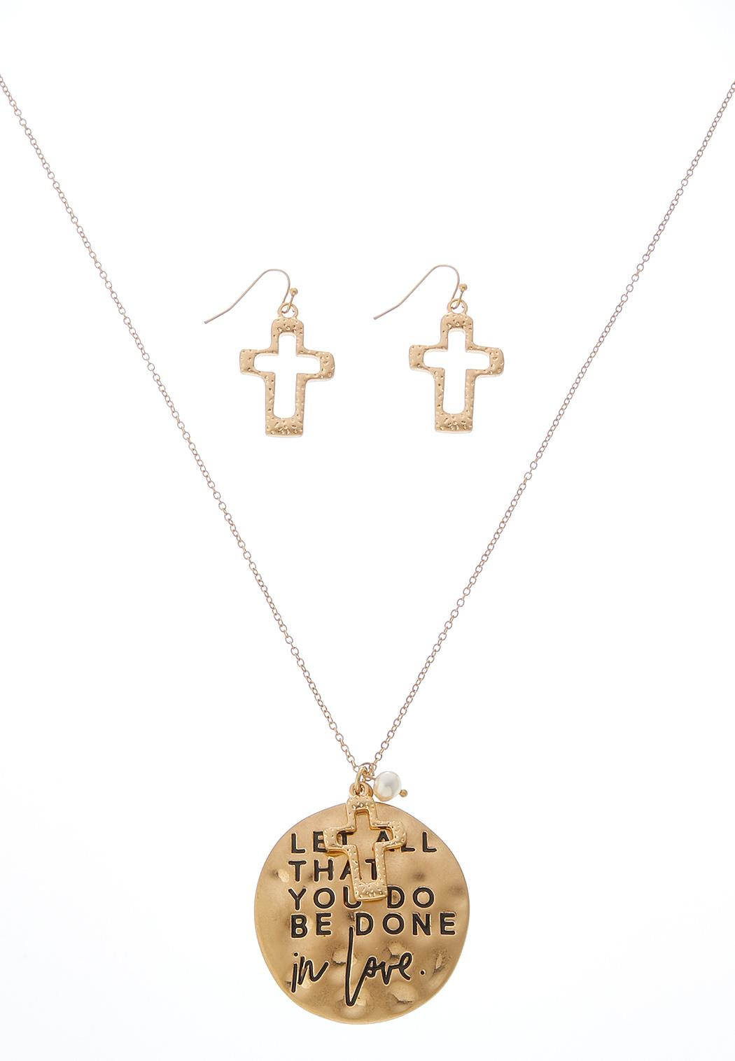 Be Done In Love Necklace Set