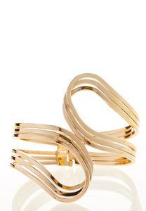 Gold Swirl Cuff Bracelet
