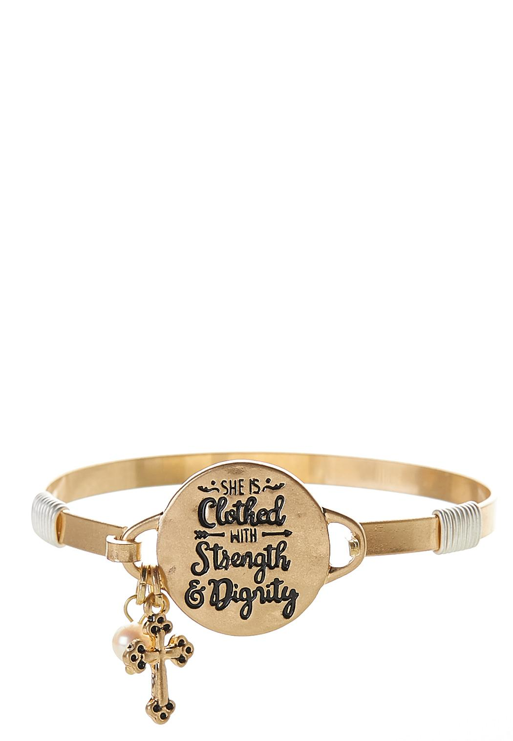 Strength And Dignity Cuff Bracelet