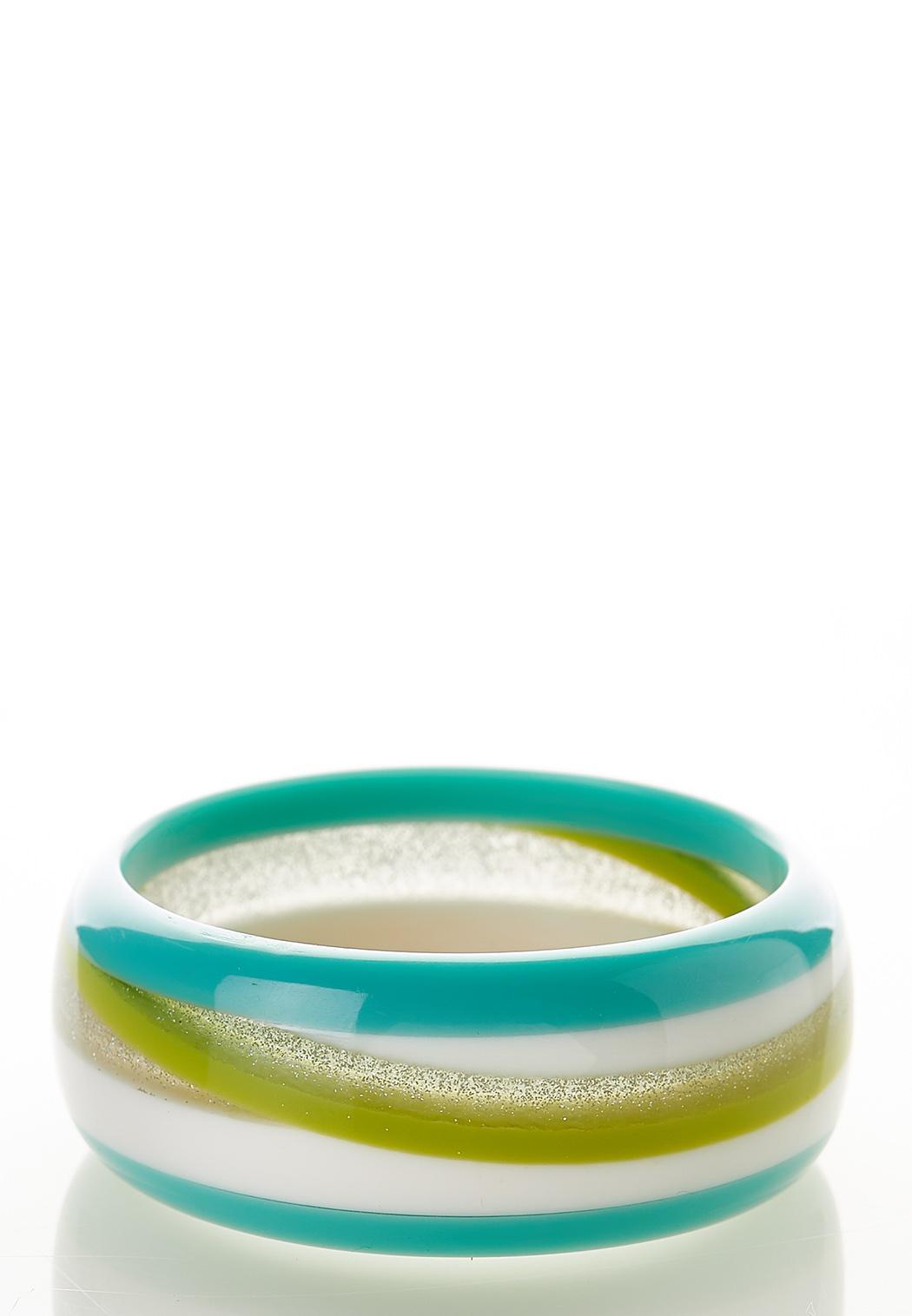 Glitter Lucite Bangle Bracelet