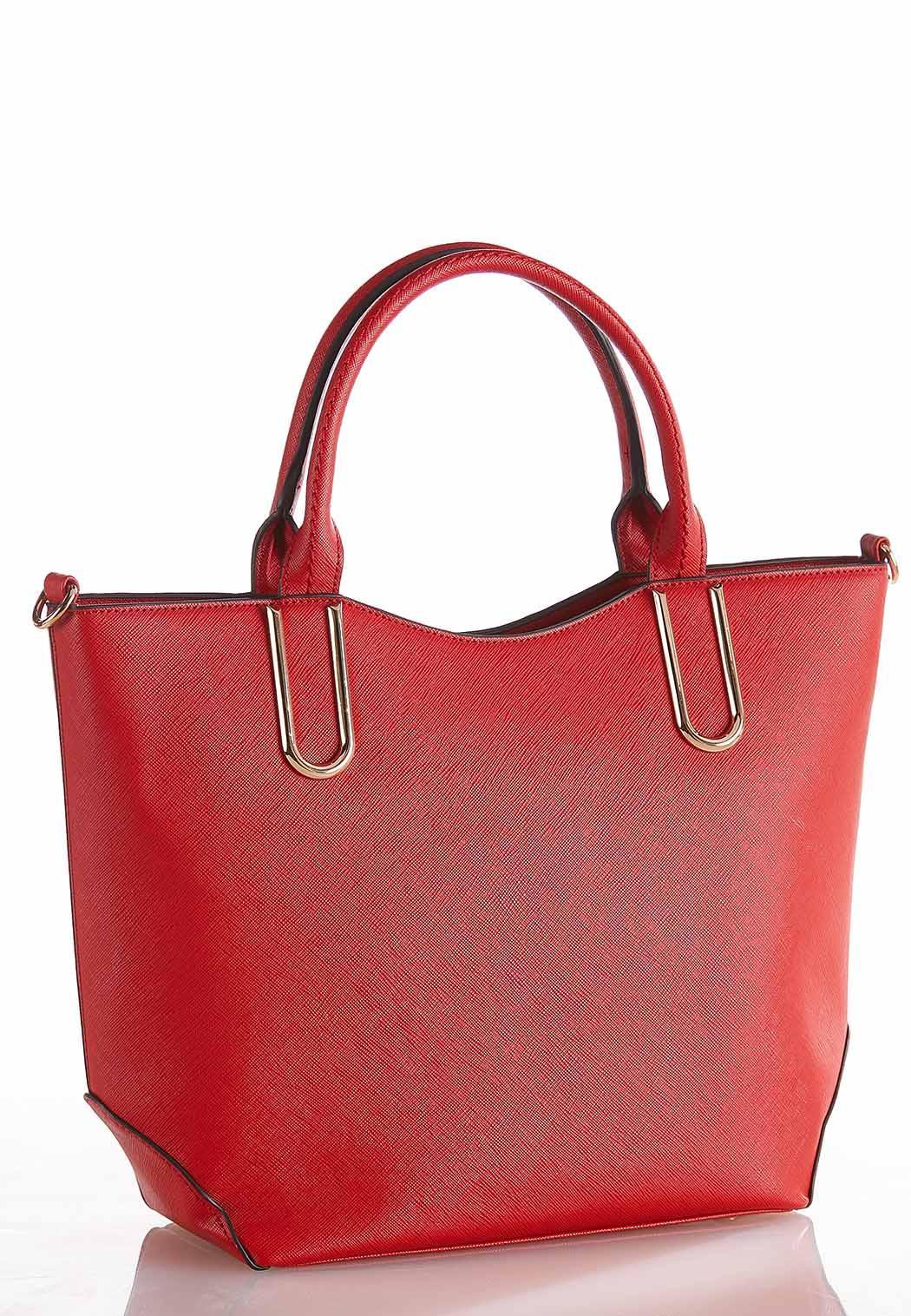 e53bf10fddf5 Hardware Detail Red Tote Handbags Cato Fashions