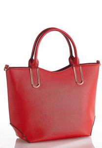 Hardware Detail Red Tote