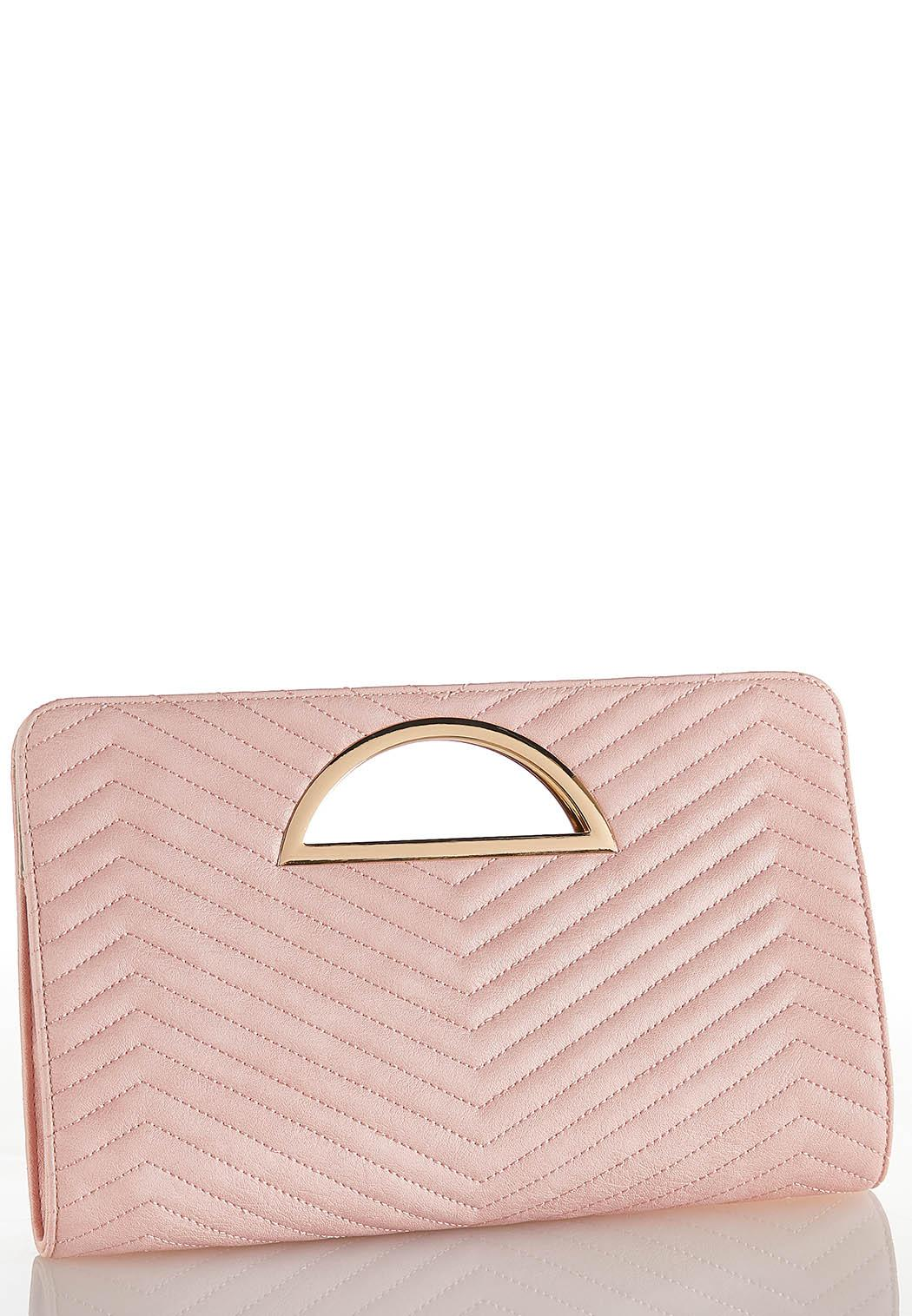 Quilted Chevron Clutch