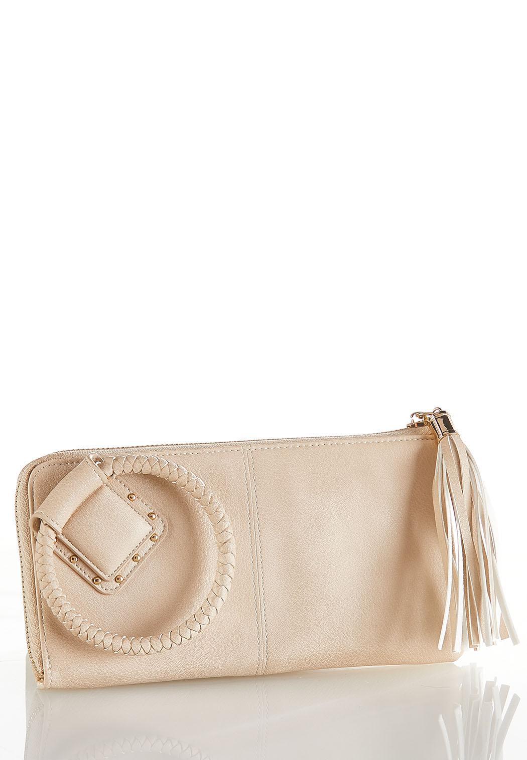 Braided Handle Wristlet Wallet