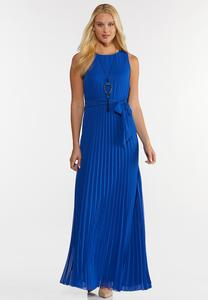 Petite Pleated Maxi Dress