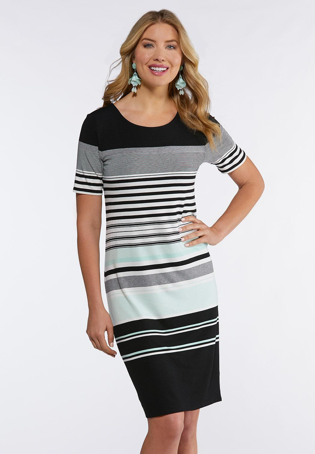 841cbe49fcfb Plus Size Stripe Midi Dress Midi Cato Fashions