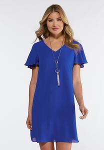Plus Size Bright Solid Swing Dress