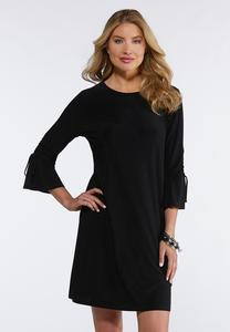 Cinch Bell Sleeve Swing Dress