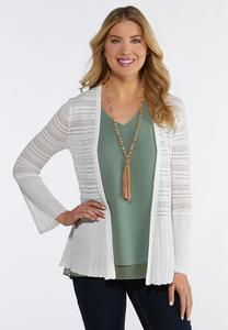 Plus Size Peplum Bell Sleeve Sweater