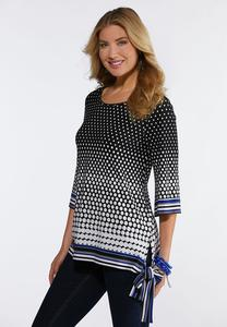 Dotted Side Tie Top