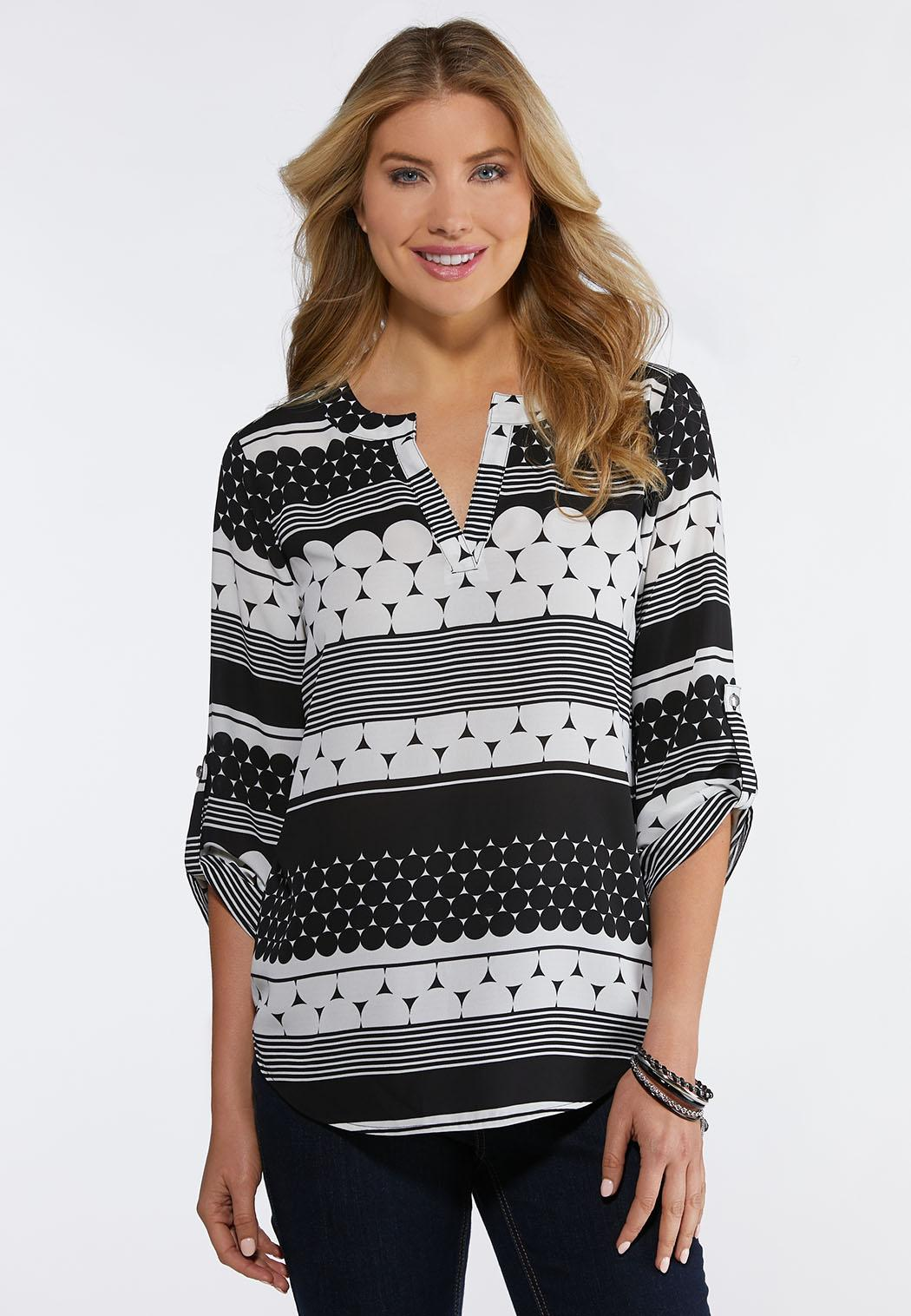 Plus Size Mod Pullover Top