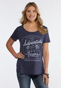 Plus Size Adventure Begins Tee