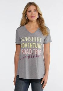 Plus Size Sunshine Adventure Tee