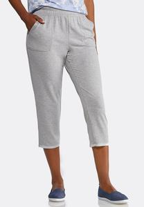 Cropped French Terry Pants