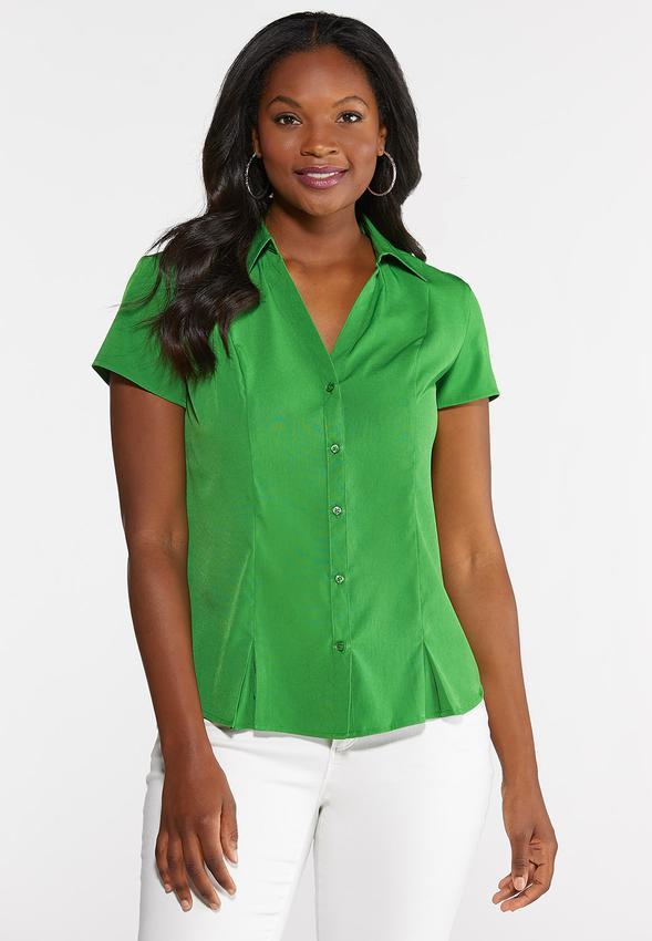 6c65aa7fe2d34 Short Sleeve Pleated Shirt alternate view · Short Sleeve Pleated Shirt