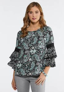 Paisley And Lace Top