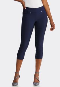 Petite Cropped Bengaline Pants