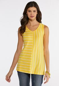 Plus Size Mixed Stripe Tank