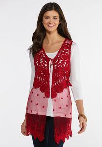 Mesh Crochet Vest