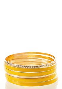 Enamel Bangle Bracelet Set