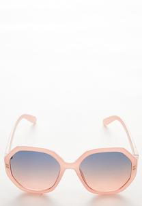 Pink Hexagon Sunglasses