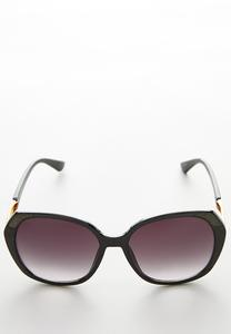 Glitter Rim Oversized Sunglasses