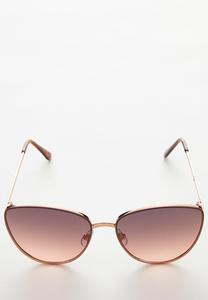 Colored Lens Cateye Sunglasses