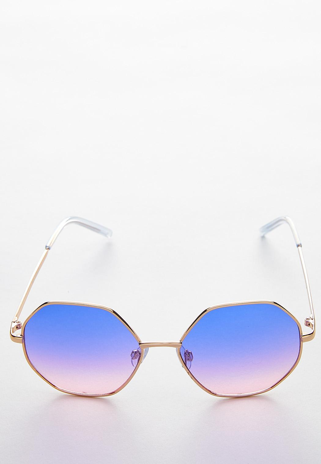fc219bf8fc09a Ombre Hexagon Sunglasses Sunglasses Cato Fashions
