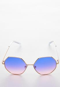 Ombre Hexagon Sunglasses
