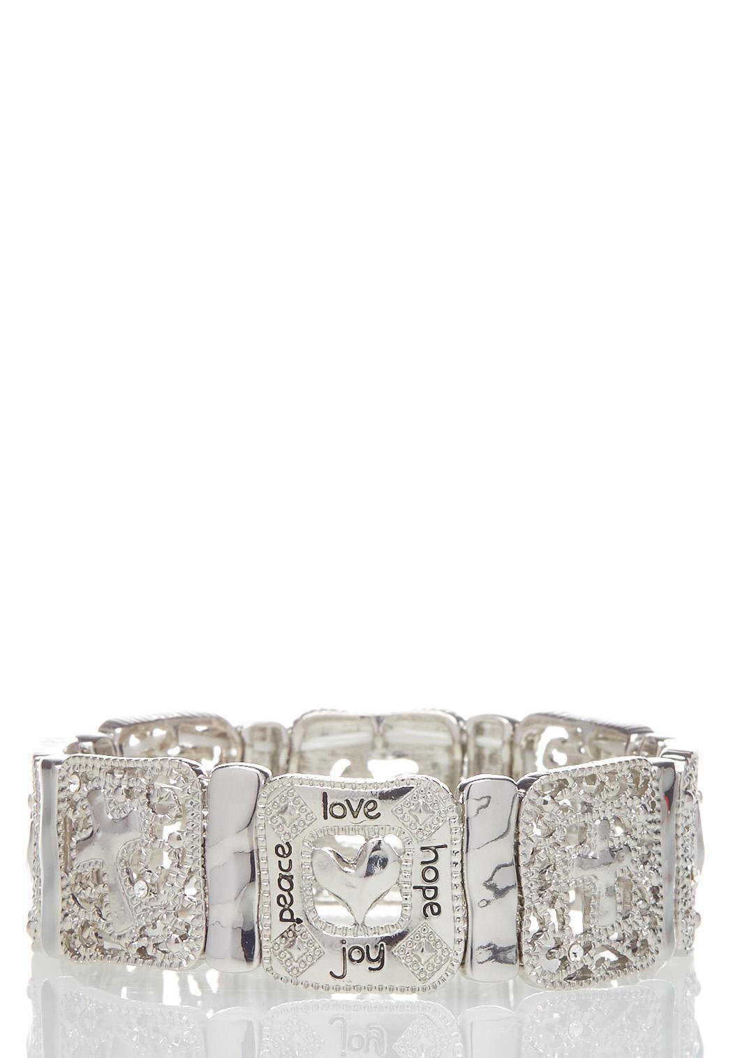 Square Inspirational Stretch Bracelet