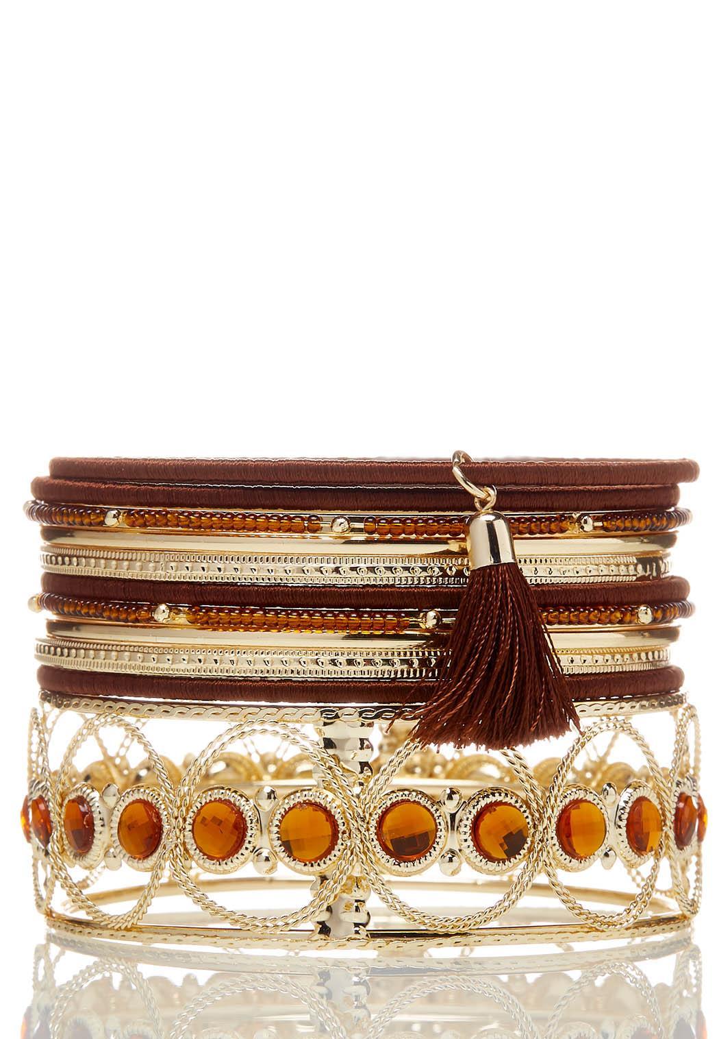 Chunky Bangle Bracelet Set