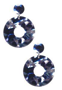 Lucite Hoop Statement Earrings