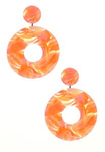Lucite Hoop Statement Earrings